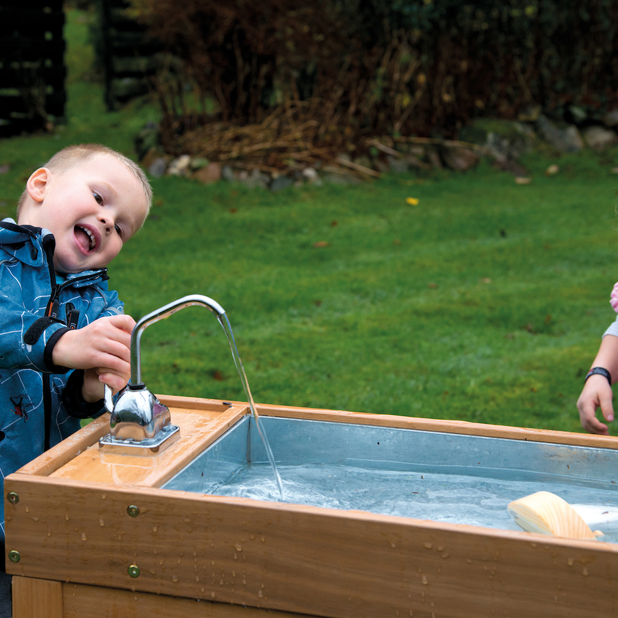 Buy Outdoor Wooden Water and Sand Table with Pump