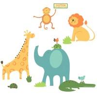Buy Safari Animals Wall Sticker Decoration | TTS