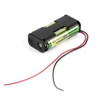 Buy 2 x AA Battery Holders with Leads | TTS