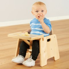 Infant Feeding Chair Back Pain Office Buy Wooden With Tray Tts International