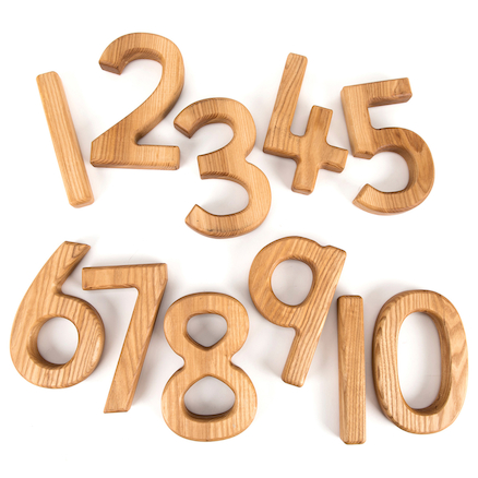 buy chunky wooden number