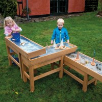 Buy Outdoor Wooden Water and Sand Table with Pump | TTS ...