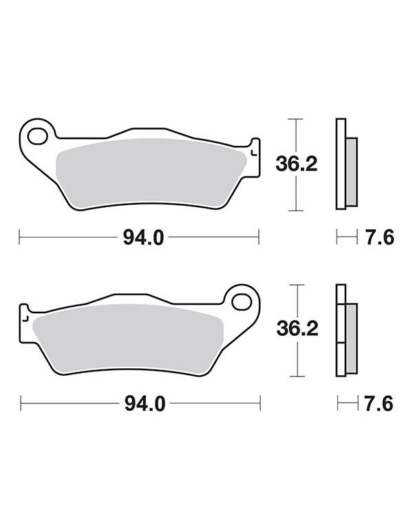 2 plaquettes de frein arrière SBS 671LS pour APRILIA