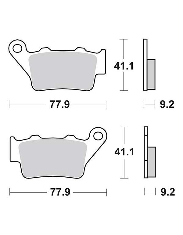 2 plaquettes de frein arrière SBS 675LS pour KTM SUPERDUKE