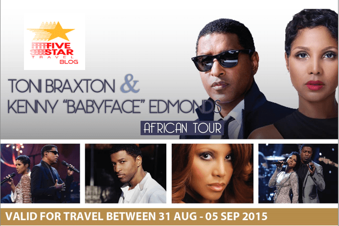 Catch Tony Braxton and BabyFace Live in SA