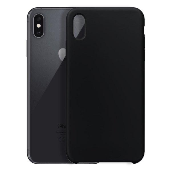 Apple hoesjes Apple – iPhone XS Max – Siliconen hoesje – Zwart