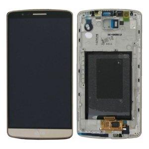 Onderdelen G3 LCD / Scherm met frame voor LG G3 – Goud