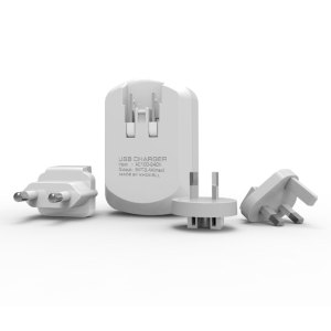 Adapters Khocell – Travel adapter- 3.4A – 3 USB aansluitingen – Wit