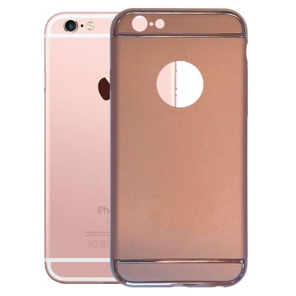 Apple hoesjes Fit Fashion – Hardcase Hoesje –  Geschikt voor iPhone 6/6S – Roze