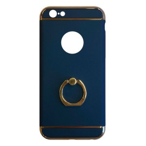 Apple hoesjes Fit Fashion – Hardcase Hoesje –  Met ring – Geschikt voor iPhone 6/6S – Blauw