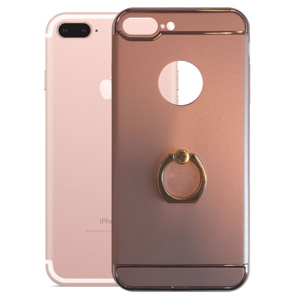 Apple hoesjes Fit Fashion – Hardcase Hoesje –  Met ring – Geschikt voor iPhone 7 Plus – Roze
