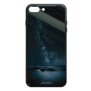 Apple hoesjes WK Design – Azure Stone Series – Hardcase – Voor iPhone 7 Plus / 8 Plus – Nacht– Zwart