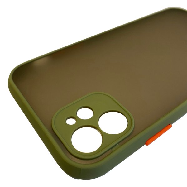 Apple hoesjes My Choice – Siliconen/Hardcase hoesje voor Apple iPhone 12 – Army