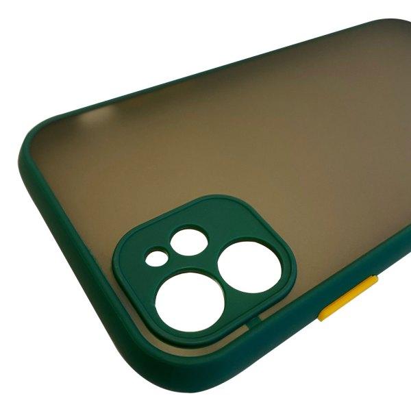 Apple hoesjes My Choice – Siliconen/Hardcase hoesje voor Apple iPhone 12 – Groen