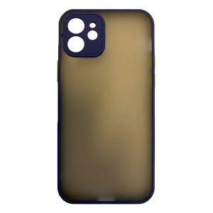 Apple hoesjes My Choice – Siliconen/Hardcase hoesje voor Apple iPhone 12 – Navy