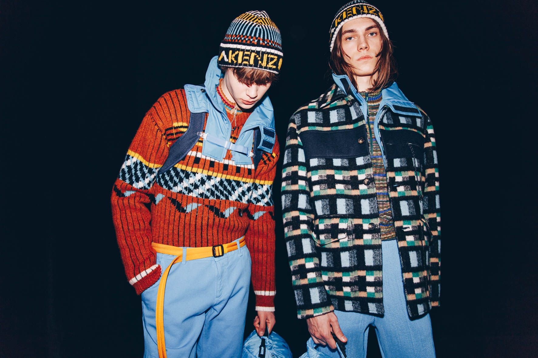Kenzo - Paris Fashion Week - FW 19 -Backstage Photographié par Robin Joris Dullers