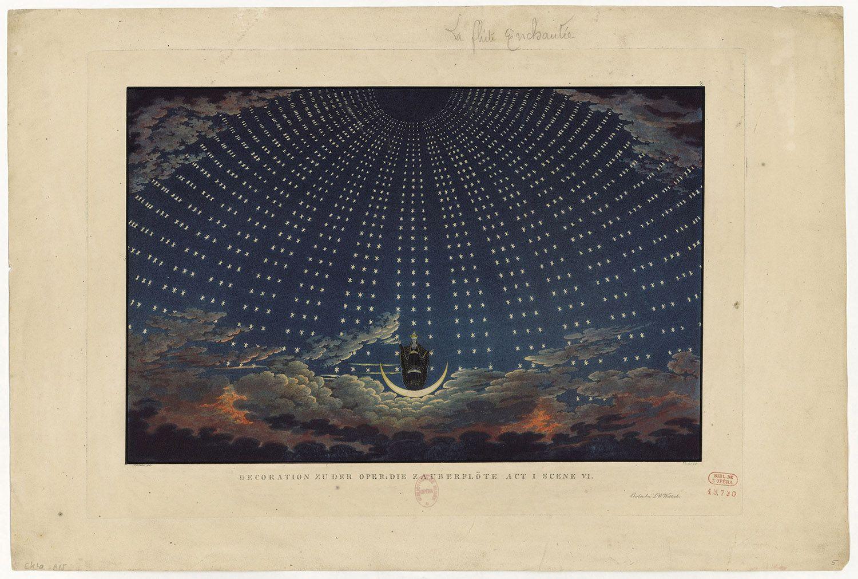 Karl Friedrich Thiele - Apparition de la Reine de la Nuit Abraham Janssens : «La Lune. Du voyage réel aux voyages imaginaires» Exposition au Grand Palais jusqu'au 22 juillet 2019.