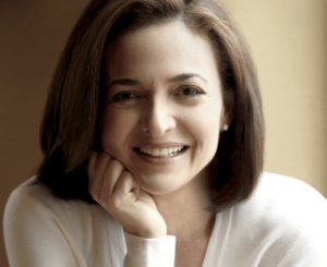 This is Sheryl Sandberg, who wrote Lean In. In her book she encourages women to reach for their goals by leading in the workforce.