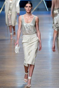 One of the runway looks from Jason Wu's Spring 2014 show. Image by Yannis  via Vogue.