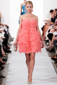 One of the runway looks from Oscar de la Renta's Spring 2014 show.