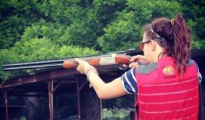 Thode and her shotgun