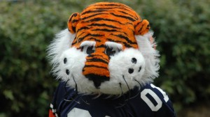 Auburn Universiy's mascot, Aubie the Tiger. Picture from WikiMedia.