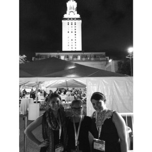 Alicia Keene, Abbie and me at TheTexas Tribune Festival in 2014.