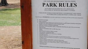 Park rule signs have been added throughout Lubbock to better display regulations. Blaine Hill/The Hub@TTU