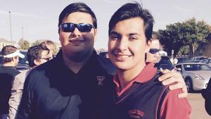 Lisandro Gonzalez (right) stands next to his brother who also attended Texas Tech University.