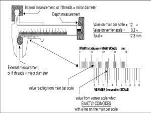 How to measure using metric Vernier caliper