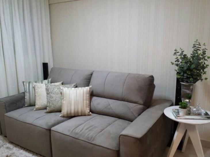 sofa cinza e almofadas coloridas leather las vegas sofá cinza: 50+ fotos para aproveitar a versatilidade da peça