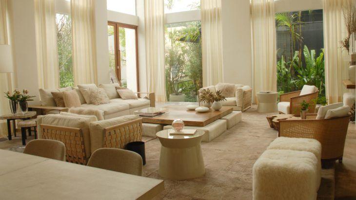 studio sofas chaises fabric reclining and loveseats sala para dois ambientes: a melhor forma de ampliar espaços