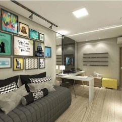 Sofa Cinza E Almofadas Coloridas 3 Piece Sectional Sofas For Small Es 40 Modelos De Sofás Pequenos Para A Sala Da Sua Casa