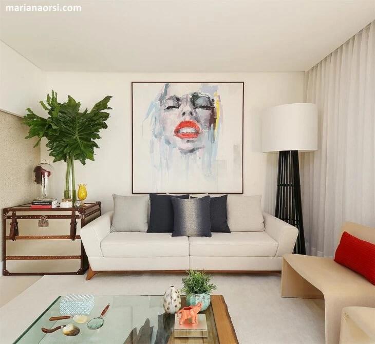 sofas modernos para sala de tv leather sofa cushion covers for sale 60 modelos deixar sua mais confortavel e bonita design moderno uma cheia estilo foto reproducao mariana orsi fotografia