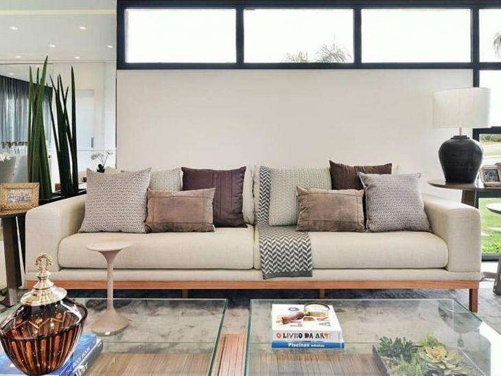 sofa modernos 2017 chesterfield modern living room 60 modelos de para deixar sua sala mais confortavel e bonita foto reproducao carolina bernardi