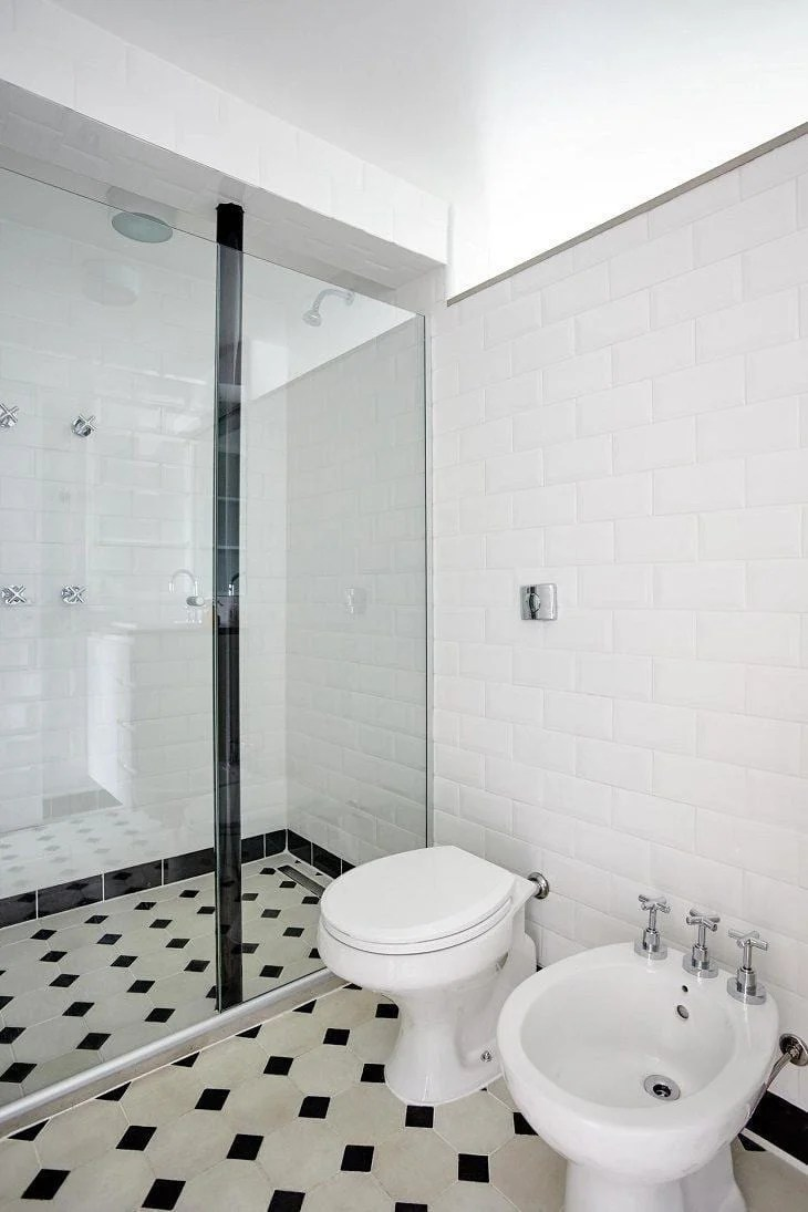 Banheiro preto e branco estilo e elegncia em duas cores