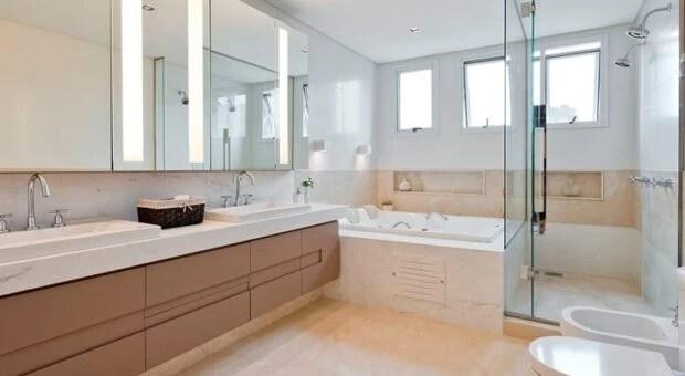 Banheiro branco 80 ideias de decorao possveis de ter