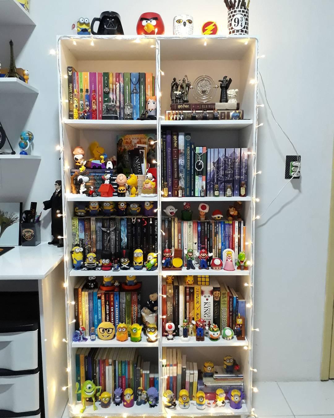 Prateleira para livros 80 modelos lindos para decorar e