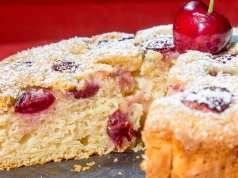 torta ricotta e ciliege