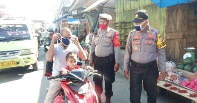 Giat Operasi Aman II 2020 Polres Maluku Tenggara di Pasar Tual