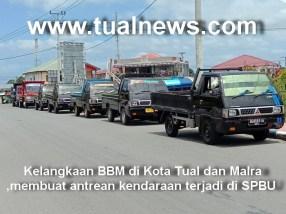 Ini Anteran Mobil Truk di SPBU BTN Kota Tual