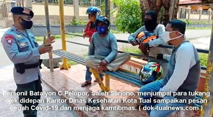 Brimob Maluku sosialisasi pencegahan Covid 19