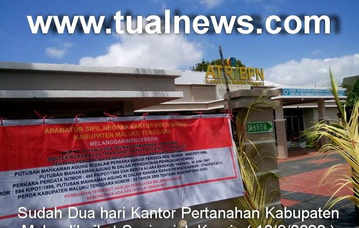 Kantor Pertanahan Malra diboikot Sasi