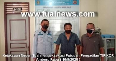 Kejaksaan Negeri Tual eksekusi Putusan Pengadilan TIPIKOR Ambon