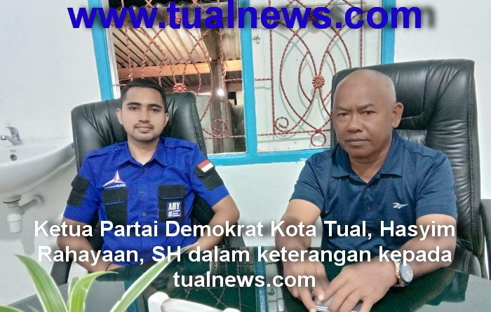 Ketua Partai Demokrat Kota Tual Hasyim Rahayaan SH