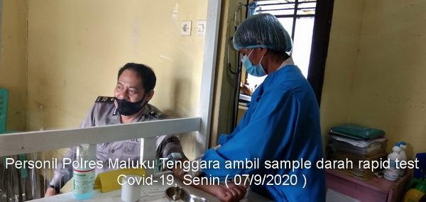 Rapid Test Personil Polres Malra