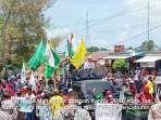 Aksi Mahasiswa didepan Kantor DPRD Kota Tual senin 12 oktober 2020