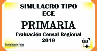 Evaluación Censal Regional PRIMARIA 2019 DREL [PDF]