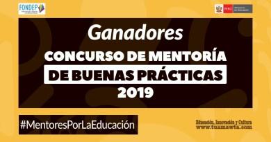FONDEP: Ganadores del Concurso de Mentoría de Buenas Prácticas 2019