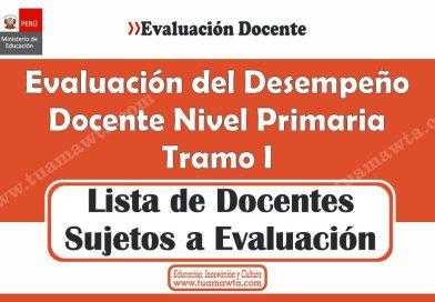 Evaluación de Desempeño Docente: Lista de Docentes a Evaluar